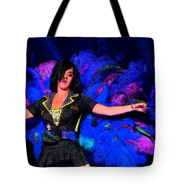 Perry Peacock Tote Bag