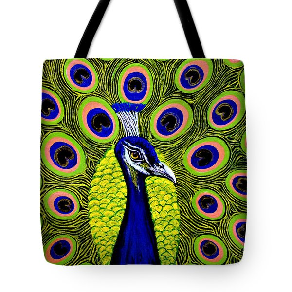 Peacock Mistique Tote Bag by Adele Moscaritolo
