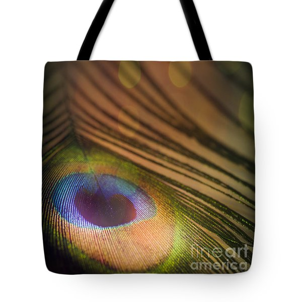 Peacock Party Tote Bag by Jan Bickerton