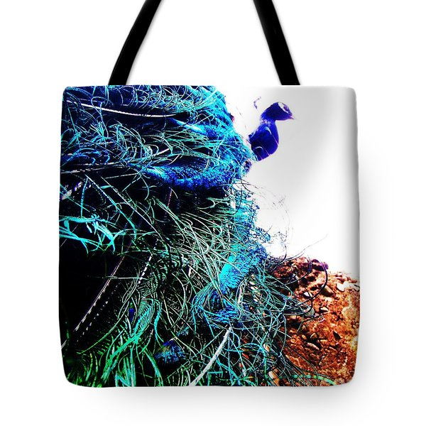 Peacock Portrait Tote Bag by Vanessa Palomino