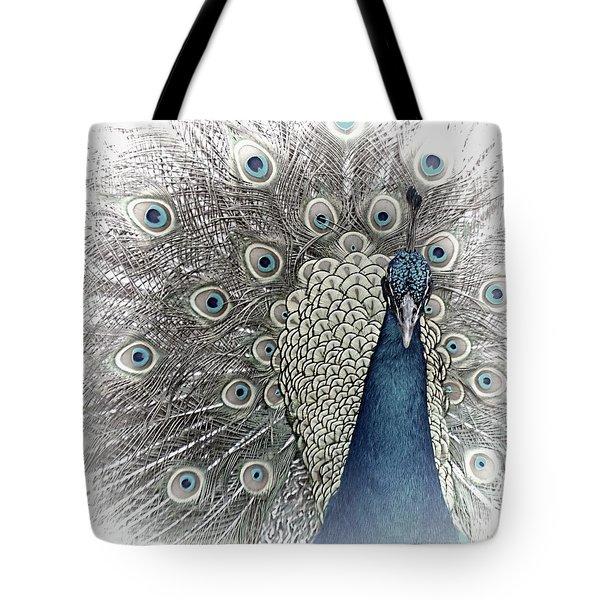Peacock Square Tote Bag