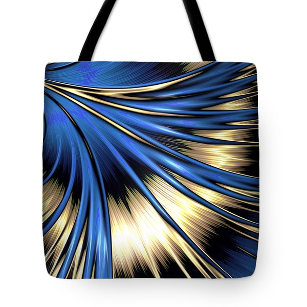Peacock Tail Feather Tote Bag