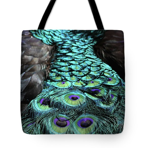 Peacock Trail Tote Bag