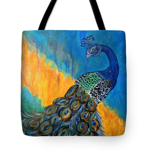 Peacock Waltz #3 Tote Bag