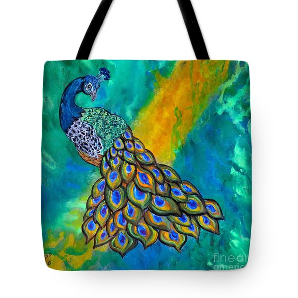 Peacock Waltz II Tote Bag