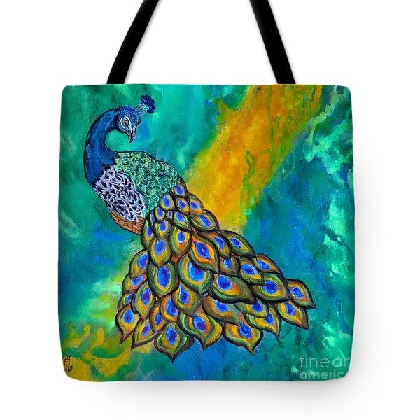 Peacock Waltz II Tote Bag
