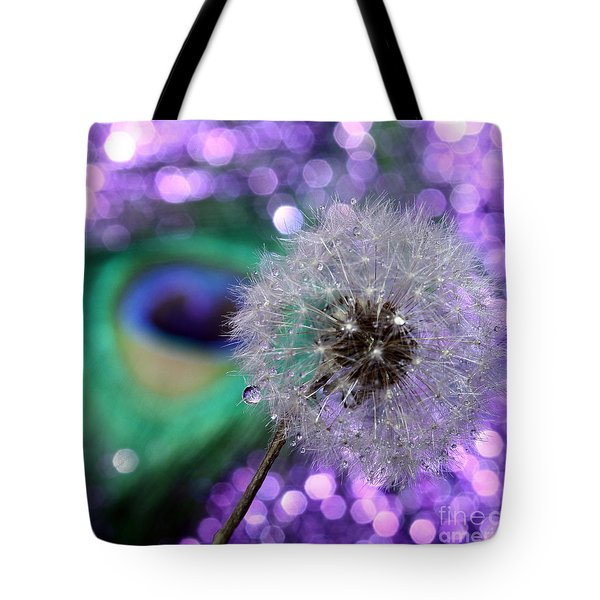 Peacock Wish Tote Bag by Krissy Katsimbras