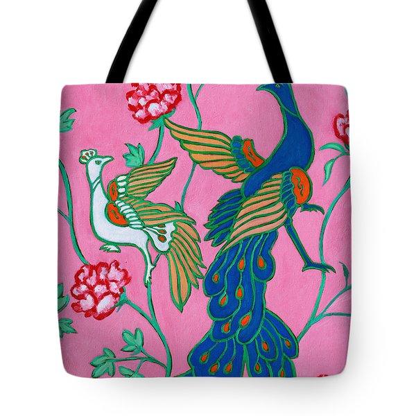 Peacocks Flying Southeast Tote Bag