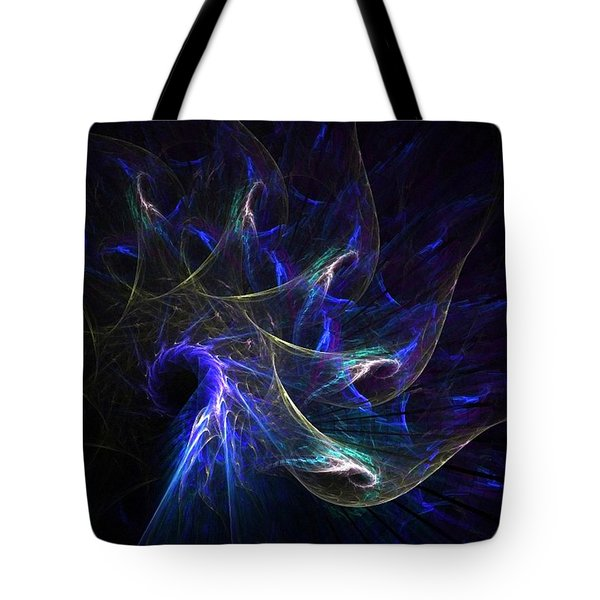 Peacock's Tail Feathers Tote Bag by Nancy Pauling