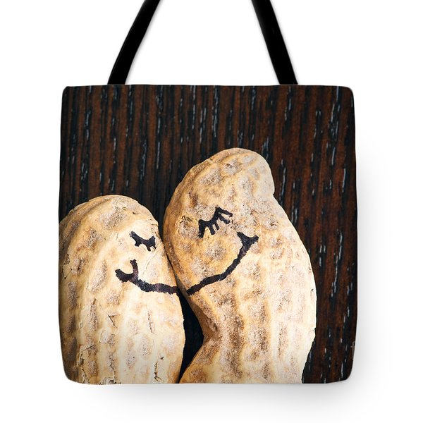 Peanuts In Love Tote Bag by Sharon Dominick