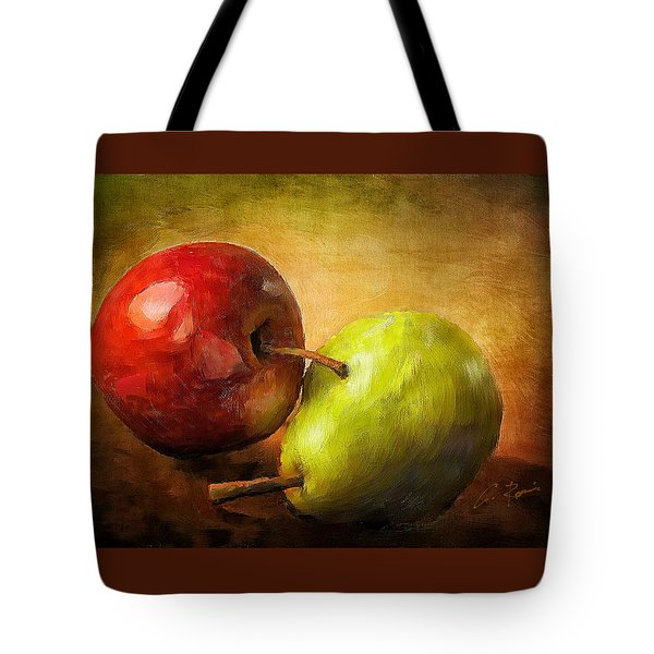 Pear And Apple Tote Bag
