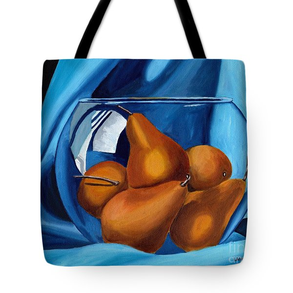 Tote Bag featuring the painting Pear Anyone by Laura Forde
