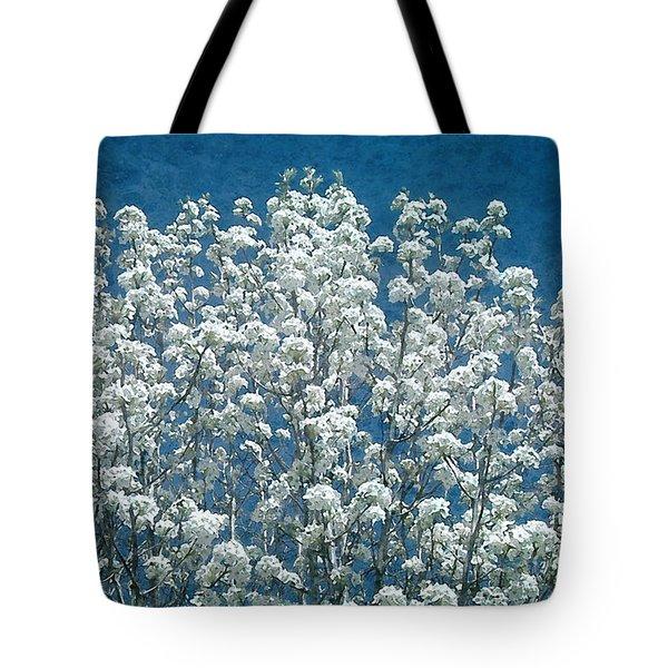 Pear Blossoms Tote Bag