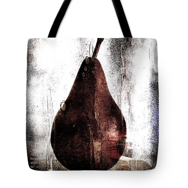 Pear In Window Tote Bag by Carol Leigh