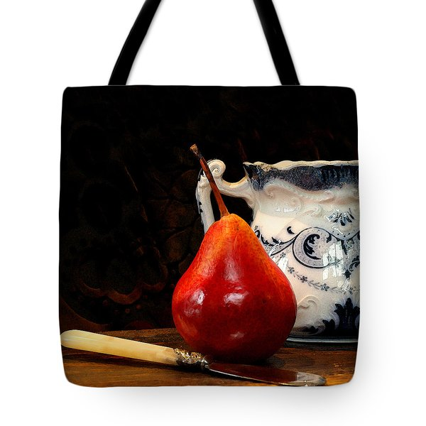 Pear Pitcher Knife Tote Bag