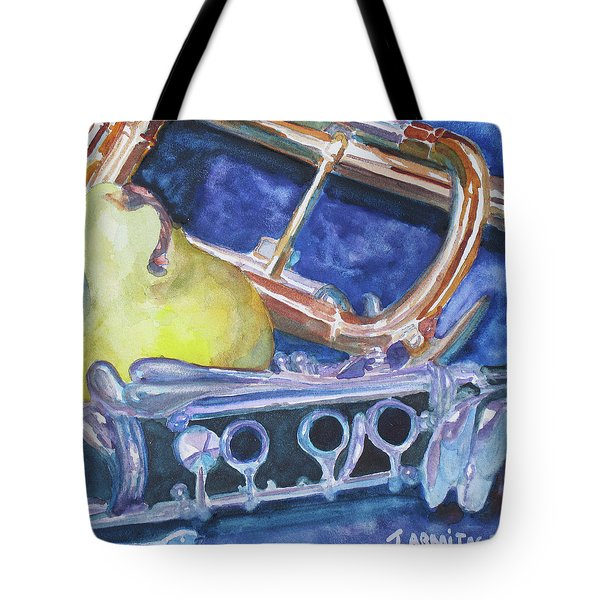 Pear Roadie Tote Bag by Jenny Armitage