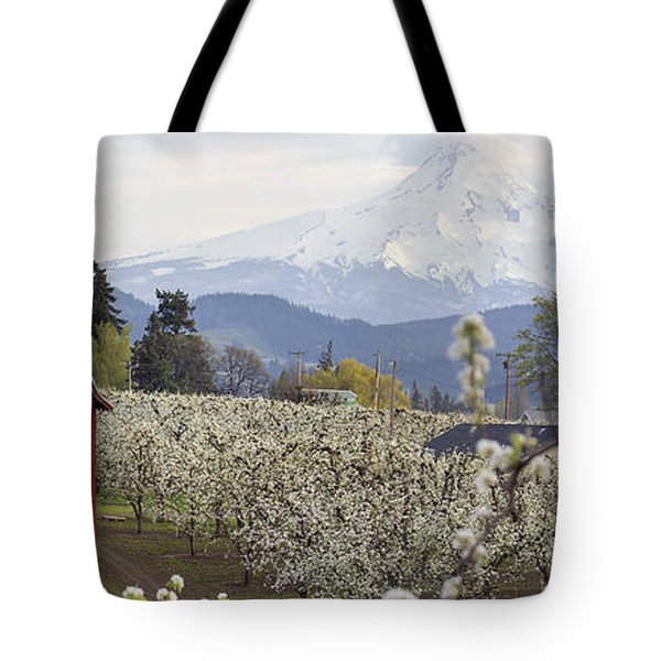 Pear Tree Orchard In Hood River Oregon Tote Bag
