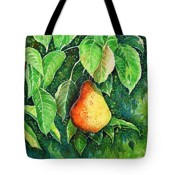 Pear Tote Bag by Zaira Dzhaubaeva