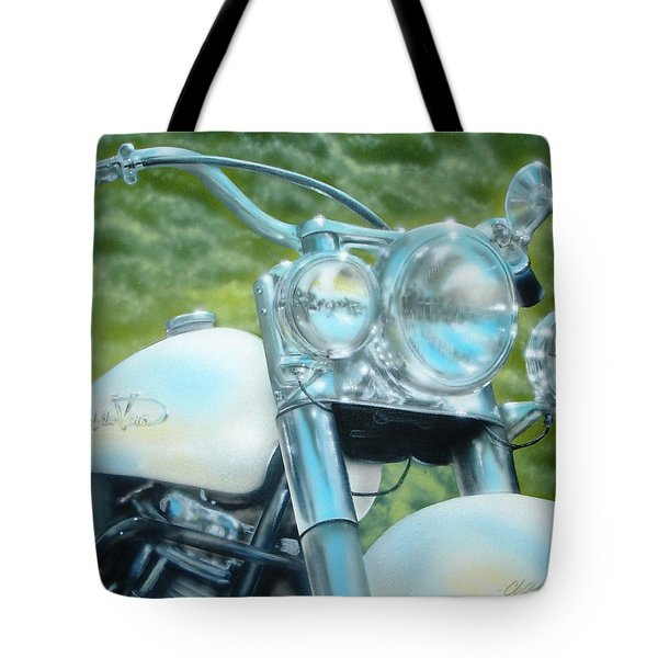 Pearl And Chrome Tote Bag