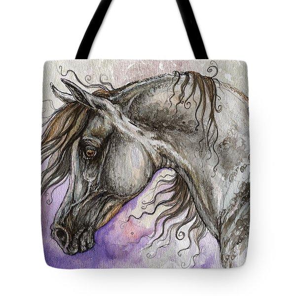 Pearl Arabian Horse Tote Bag by Angel  Tarantella