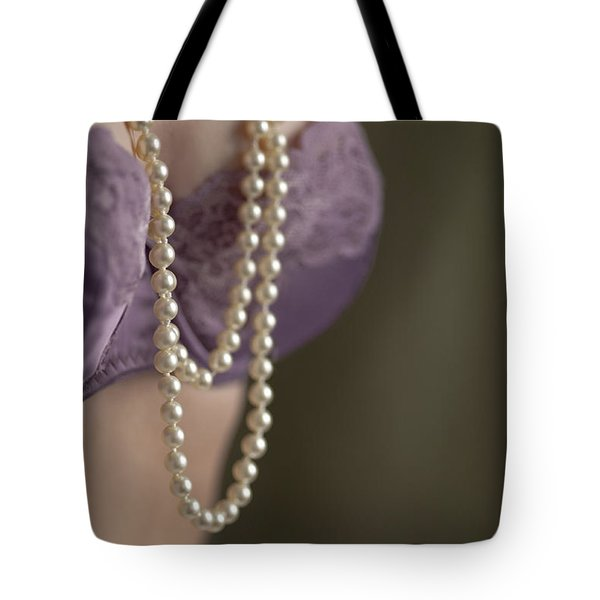 Pearl Necklace Tote Bag by Lee Avison