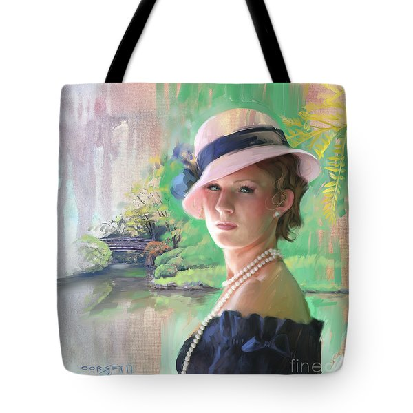 Pearls And Pink Tote Bag