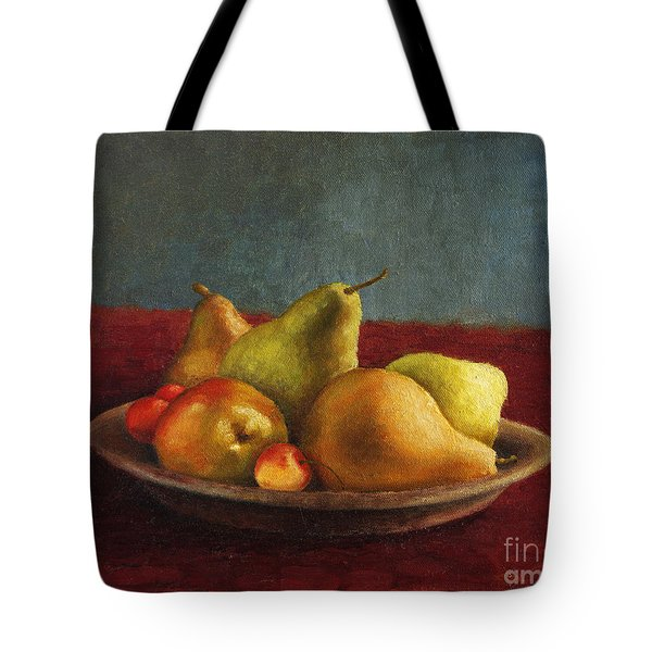 Pears And Cherries Tote Bag