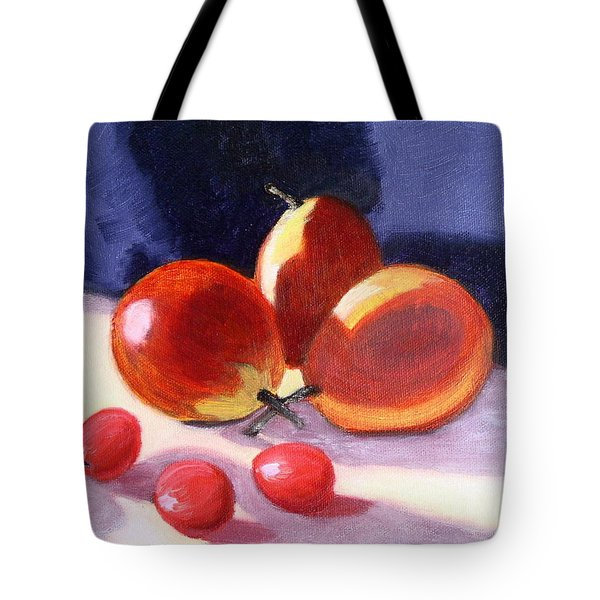 Pears And Grapes Tote Bag