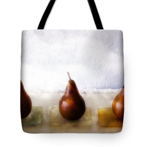 Pears In The Clouds Tote Bag by Carol Leigh