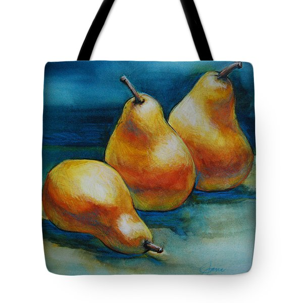 Pears Of Three Tote Bag by Jani Freimann