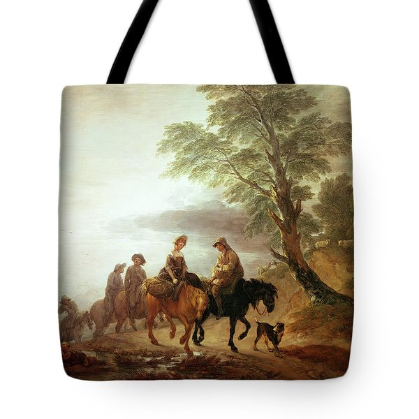 Peasants Going To Market Early Morning Tote Bag