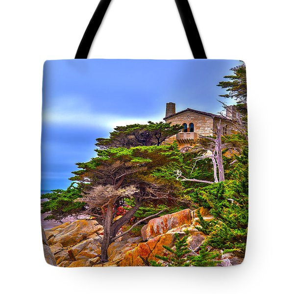 Pebble Beach Ca Tote Bag