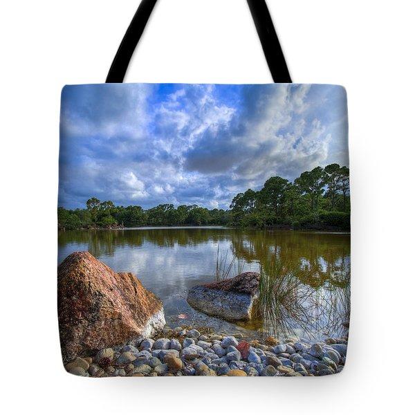 Pebble Beach Tote Bag by Debra and Dave Vanderlaan