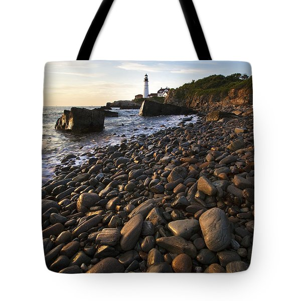 Pebble Beach Tote Bag by Eric Gendron