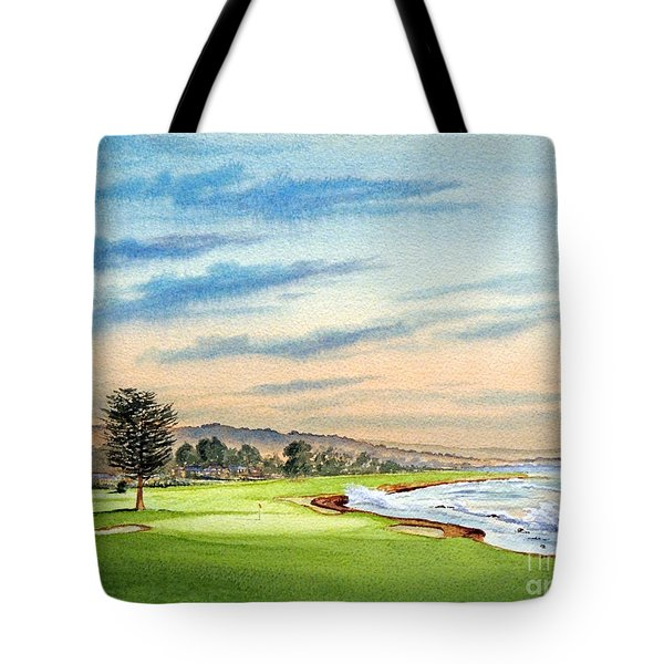 Pebble Beach Golf Course 18th Hole Tote Bag
