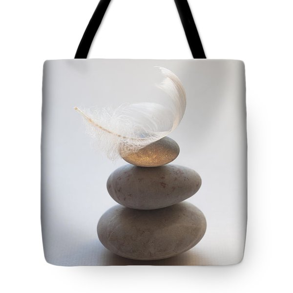 Pebble Pile Tote Bag by Jan Bickerton