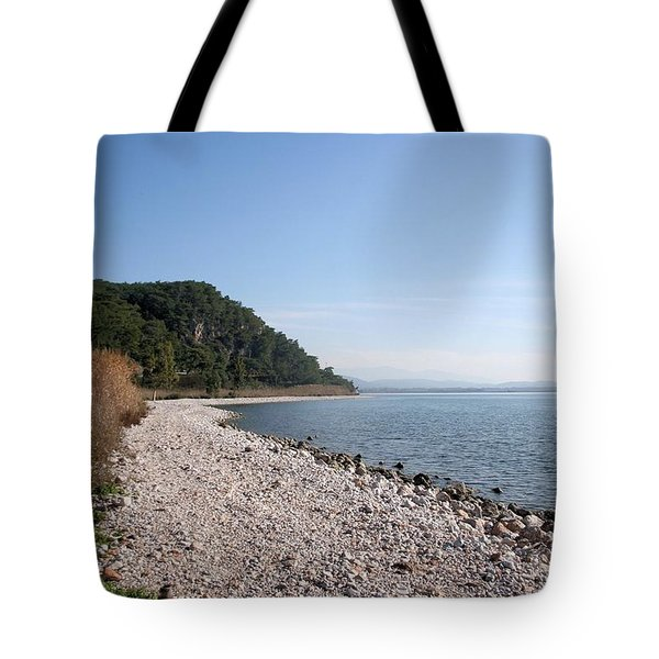 Tote Bag featuring the photograph Pebbled Beach by Tracey Harrington-Simpson