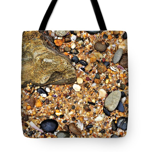 Pebbles And Sand Tote Bag by Kaye Menner