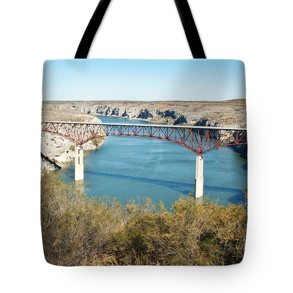Tote Bag featuring the photograph Pecos Bridge by Erika Weber