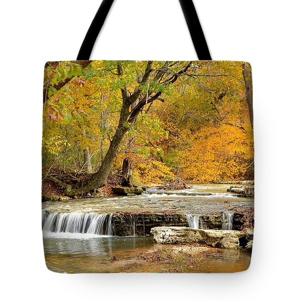 Tote Bag featuring the photograph Pedelo Falls by Deena Stoddard