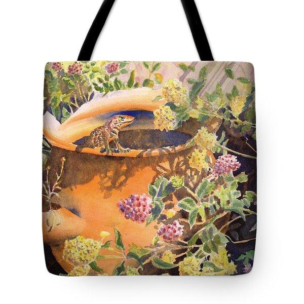 Peek-a-boo Tote Bag by Deb  Harclerode