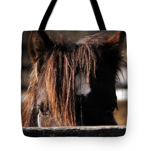 Peek-a-boo Pony Tote Bag