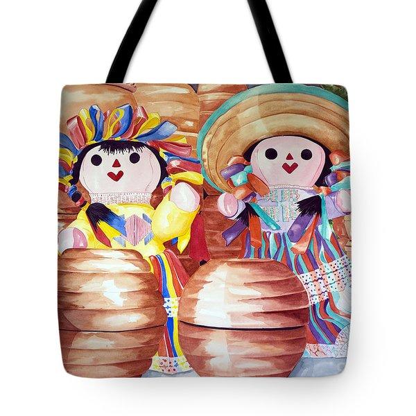 Peek-a-boo Pots Tote Bag