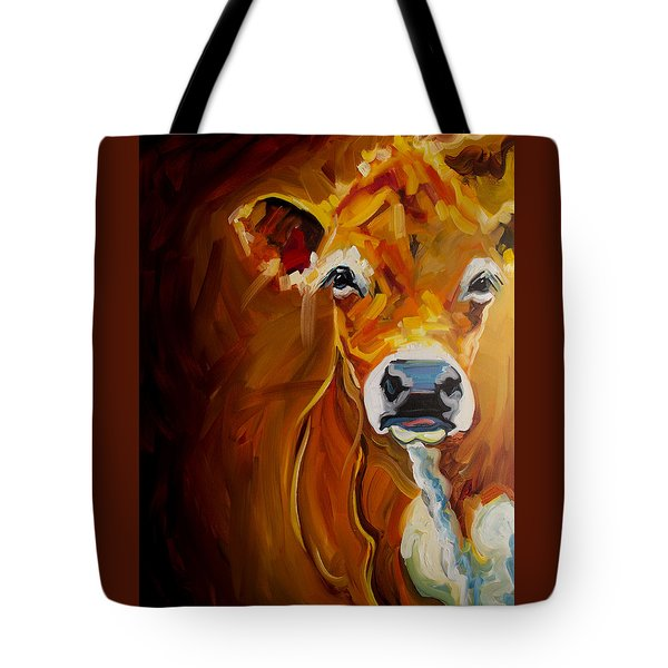 Peek Cow Tote Bag