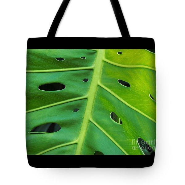 Peekaboo Leaf Tote Bag by Ann Horn