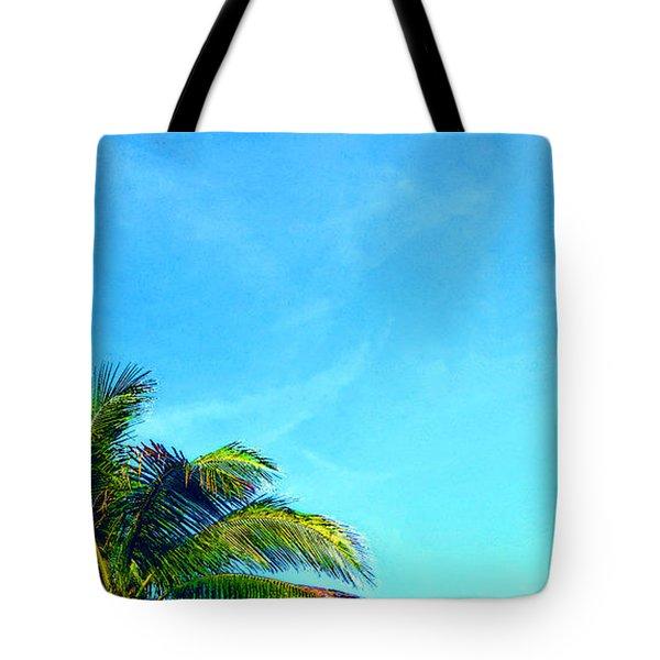 Peekaboo Palm - Tropical Art By Sharon Cummings Tote Bag