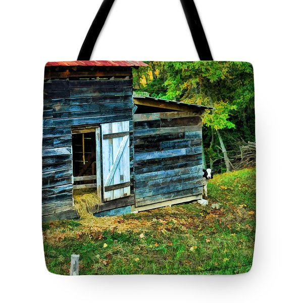 Tote Bag featuring the photograph Peeking Calves by Kenny Francis