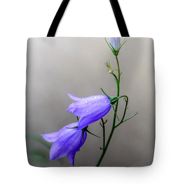 Blue Bells Peeking Through The Mist Tote Bag