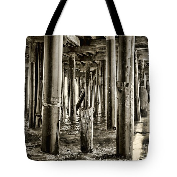 Peeking Under The Pier By Diana Sainz Tote Bag