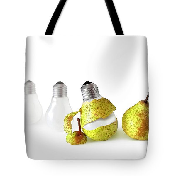 Peeled Bulb Tote Bag by Carlos Caetano